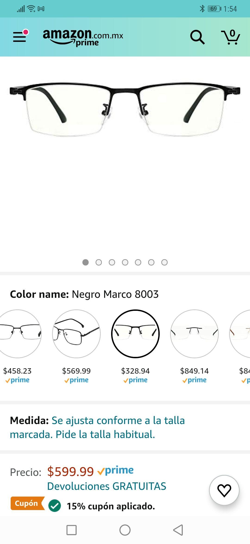Amazon: Lentes Cyxus Filtro de Luz Azul para Computadora
