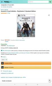 Amazon: Assassins Creed Valhalla PS5
