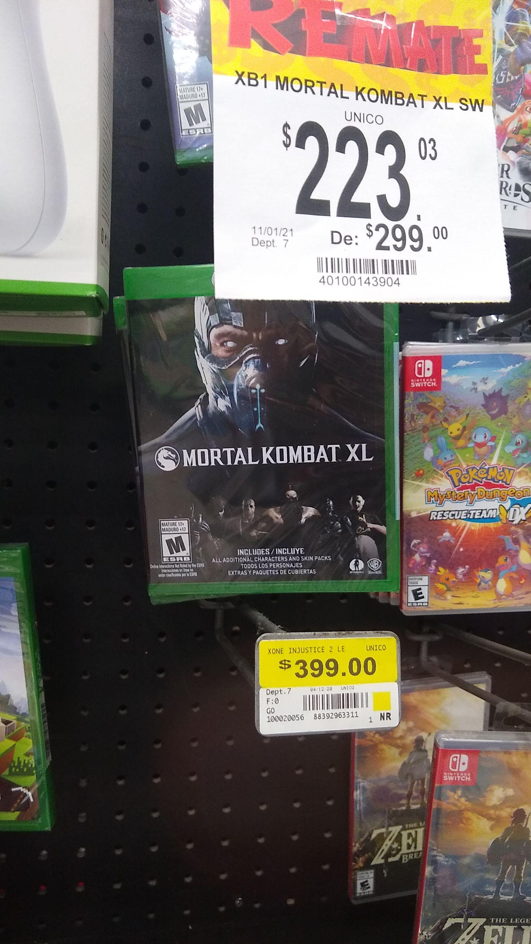 Bodega Aurrera: Mortal Kombat XL Xbox ONE