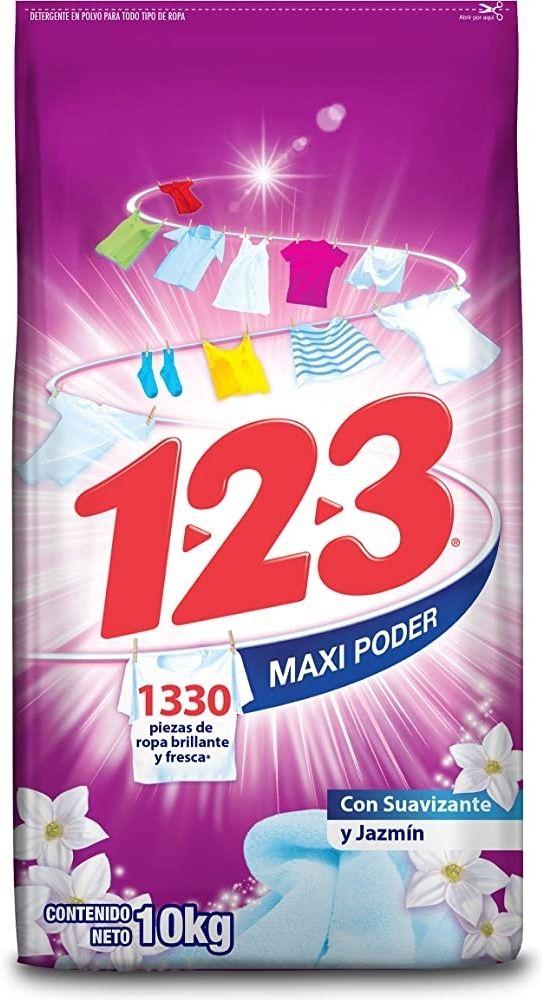 Amazon: 10Kg de jabón 123