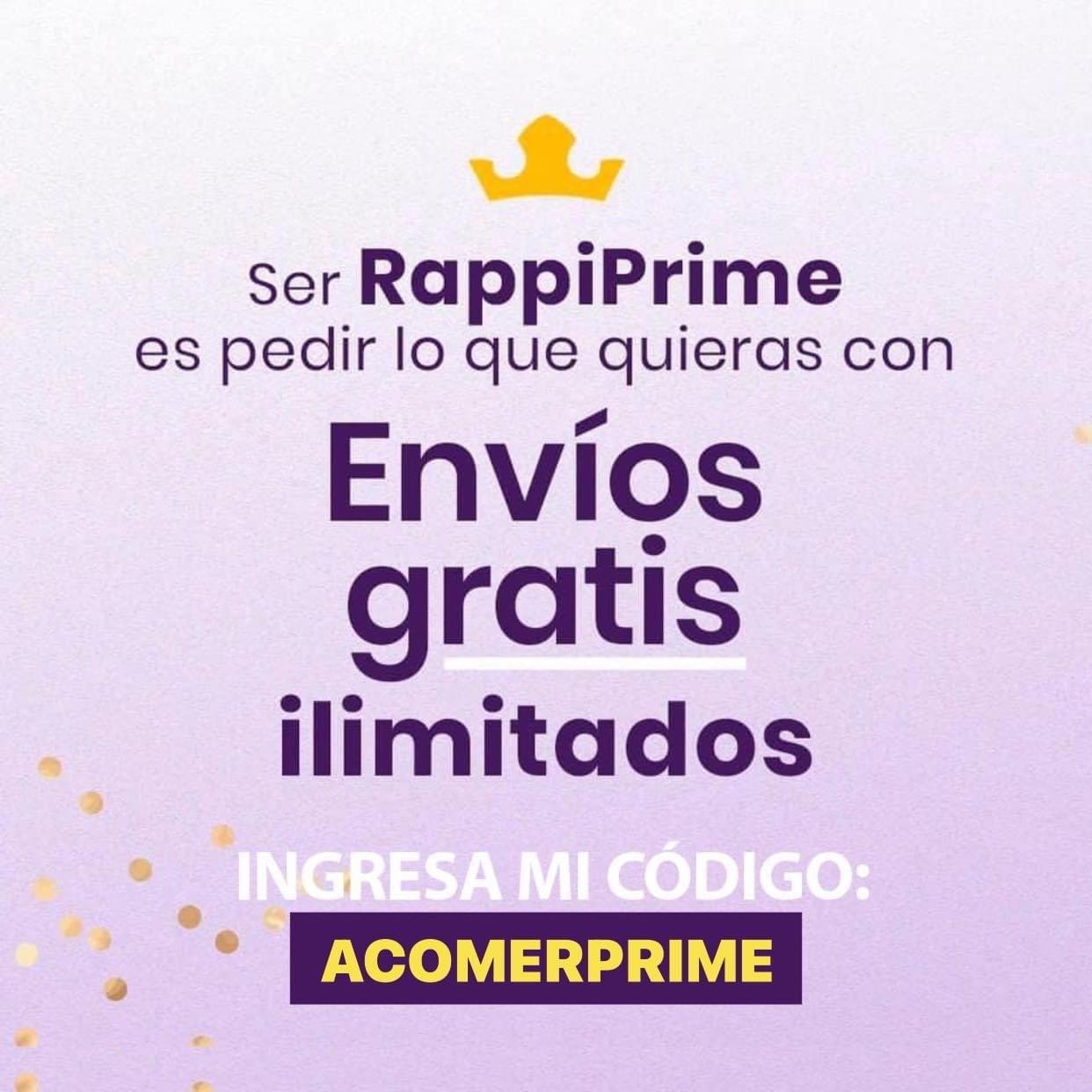 Rappi Prime: 1 Mes GRATIS