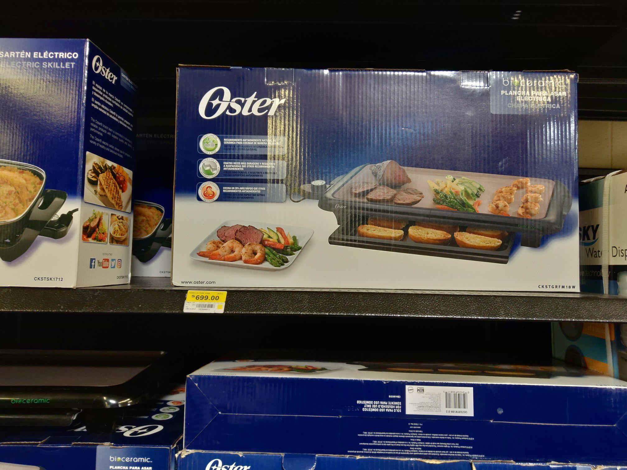 Walmart: plancha para asar eléctrica Oster