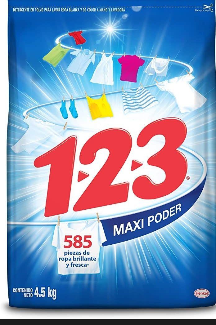 Amazon: Detergente 1-2-3 MAXI PODER 4.5 kg