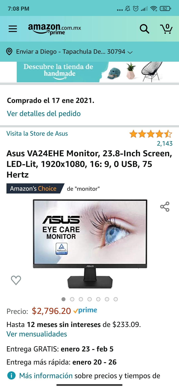 Amazon: Asus VA24EHE Monitor, 23.8