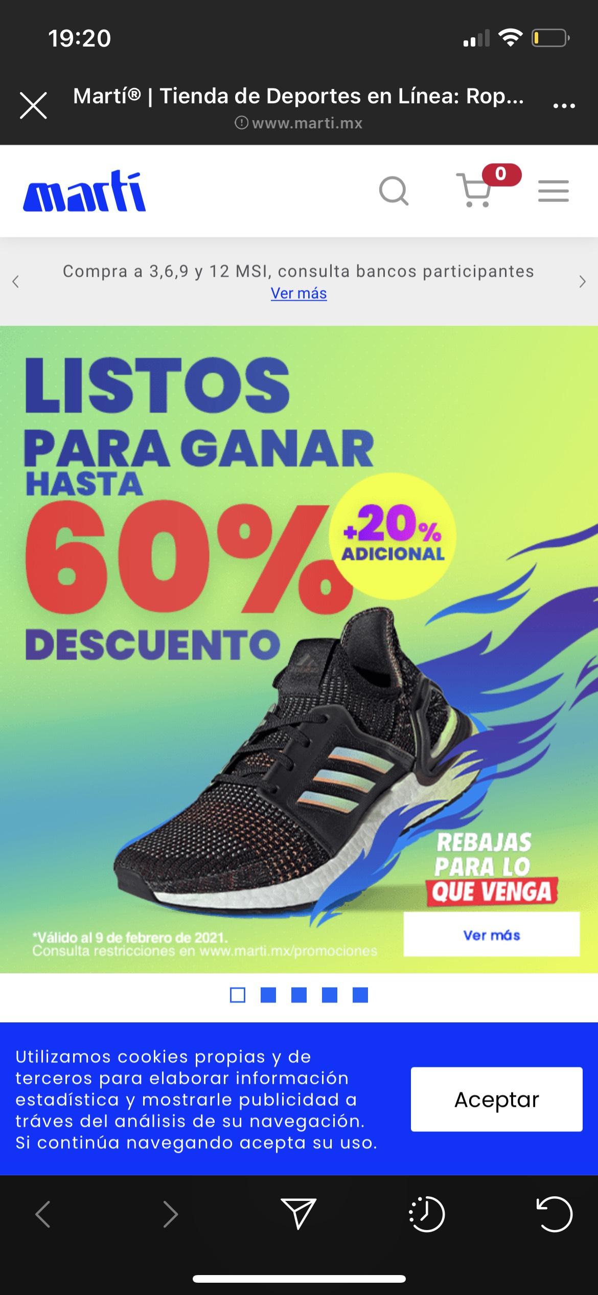 Rebajas Martí varias marcas hasta 50% + 20% adicional