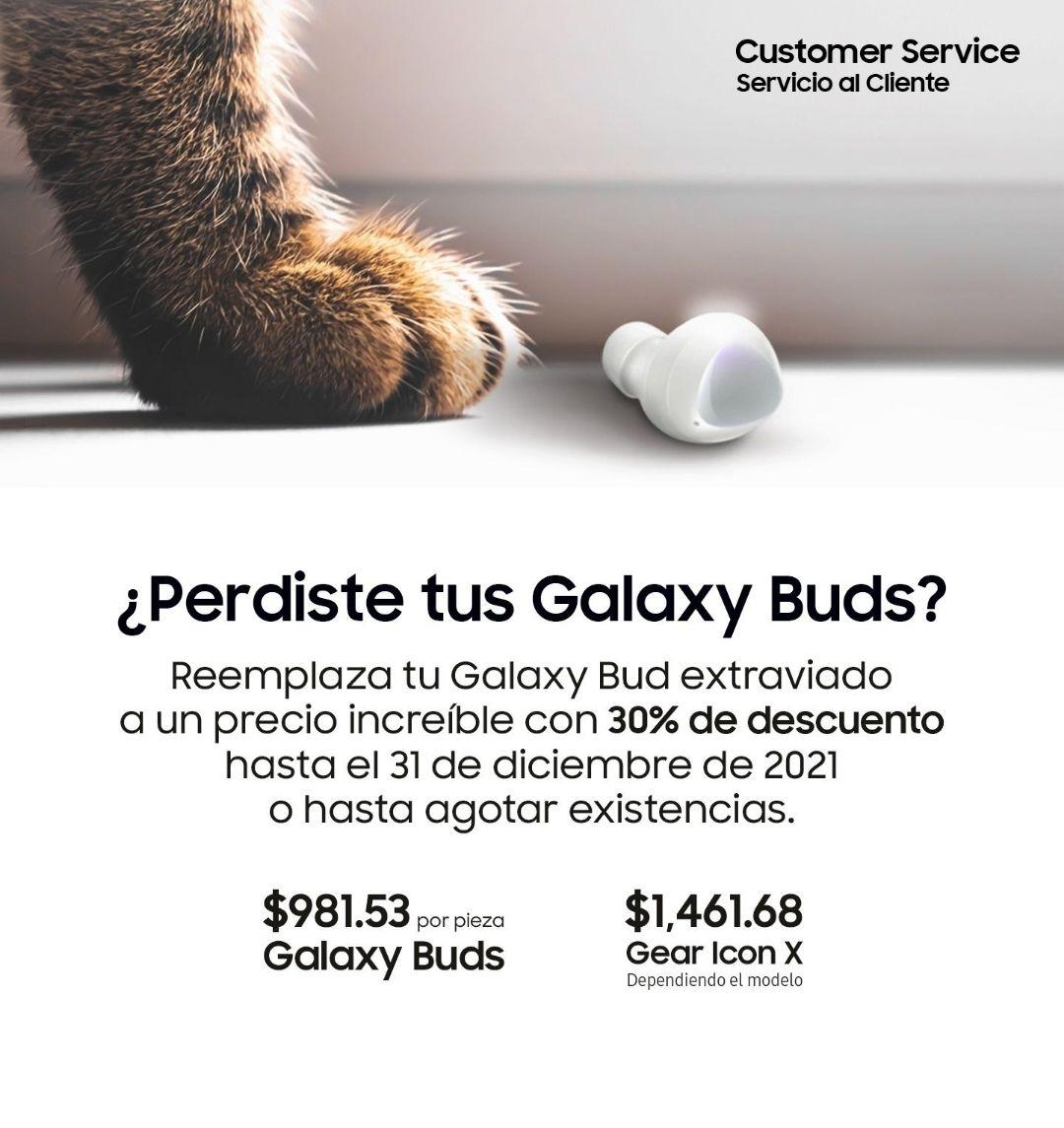 Samsung Store: Descuento en un Galaxy Bud y Gear Icon pa los despistados que todo pierden (como yo).
