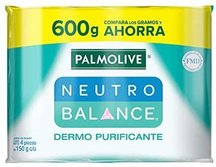 Amazon: 4 piezas de Jabón de Tocador Palmolive Neutro Balance Dermo Purificante en Barra 150 G