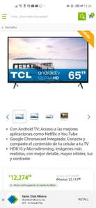 Sam's Club: TV TCL 4K 65 Android