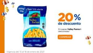 Chedraui: 20% de descuento en papas Valley Farms 500 g. ó 1 kg.