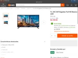 Linio: Tv JVC 40 Pulgadas Full HD Basico LED
