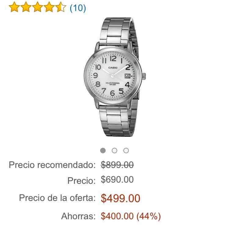 Amazon: Reloj Casio Solar. Enviado por Amazon, devolución gratis, envío gratis.