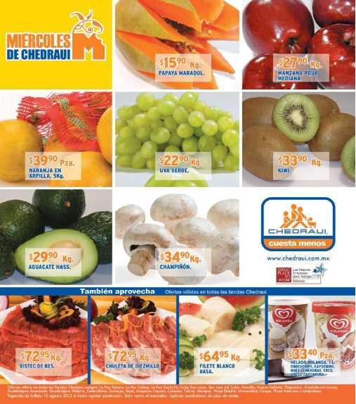 Miércoles de frutas y verduras en Chedraui agosto 15: plátano $5.50, limón $4.50 y más