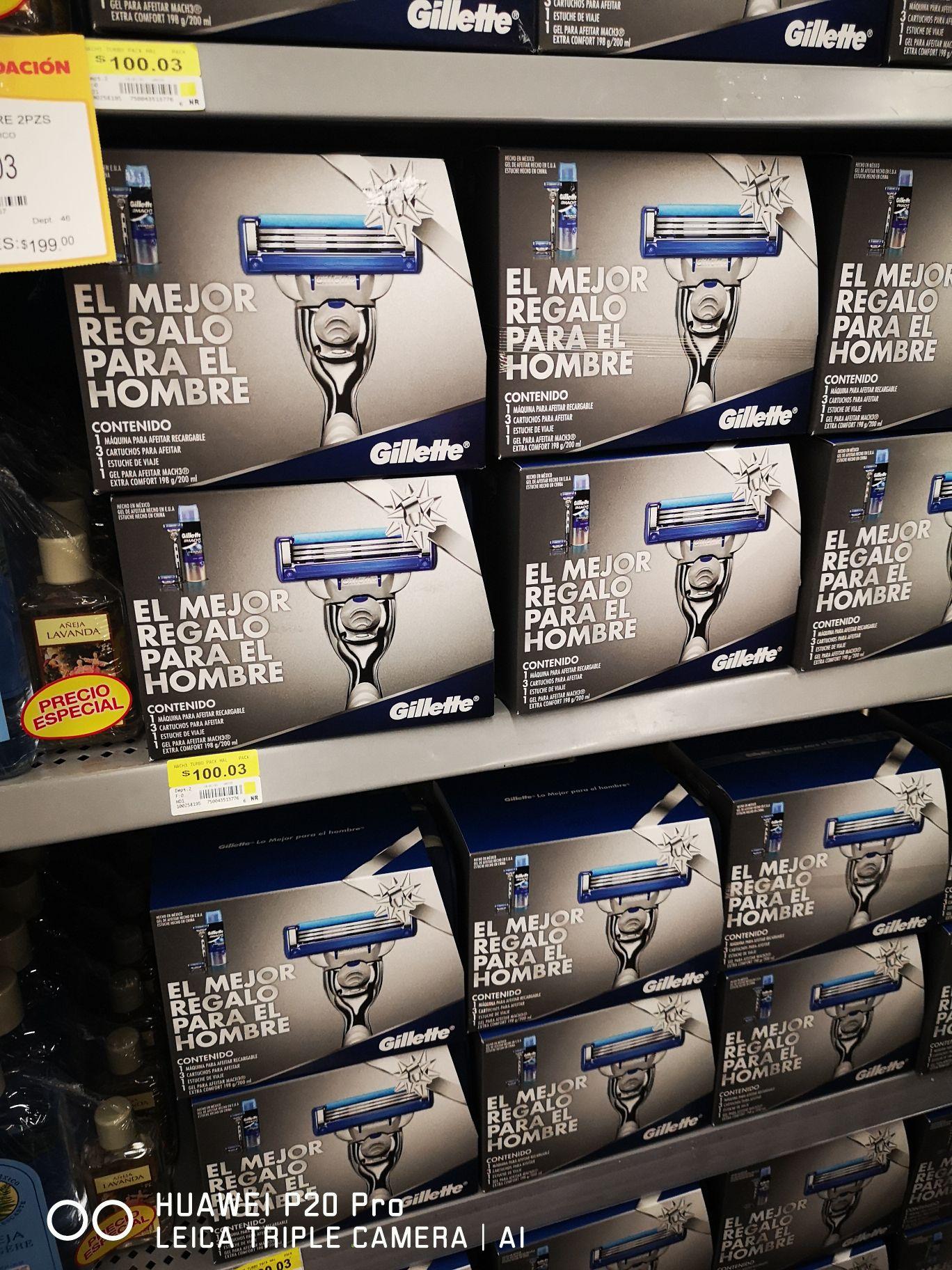 Máquina para afeitar Gillette mach 3 turbo Walmart