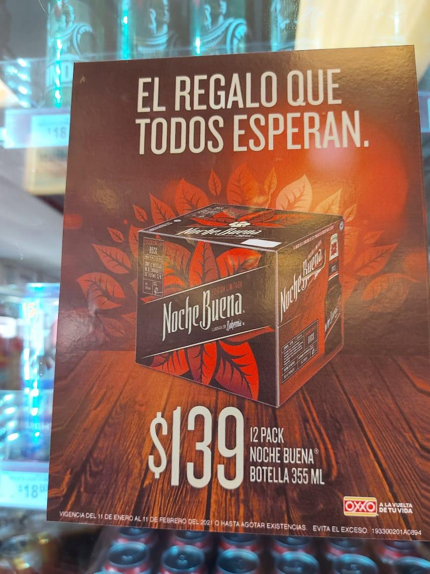 Oxxo: Cerveza Noche Buena 12 pack