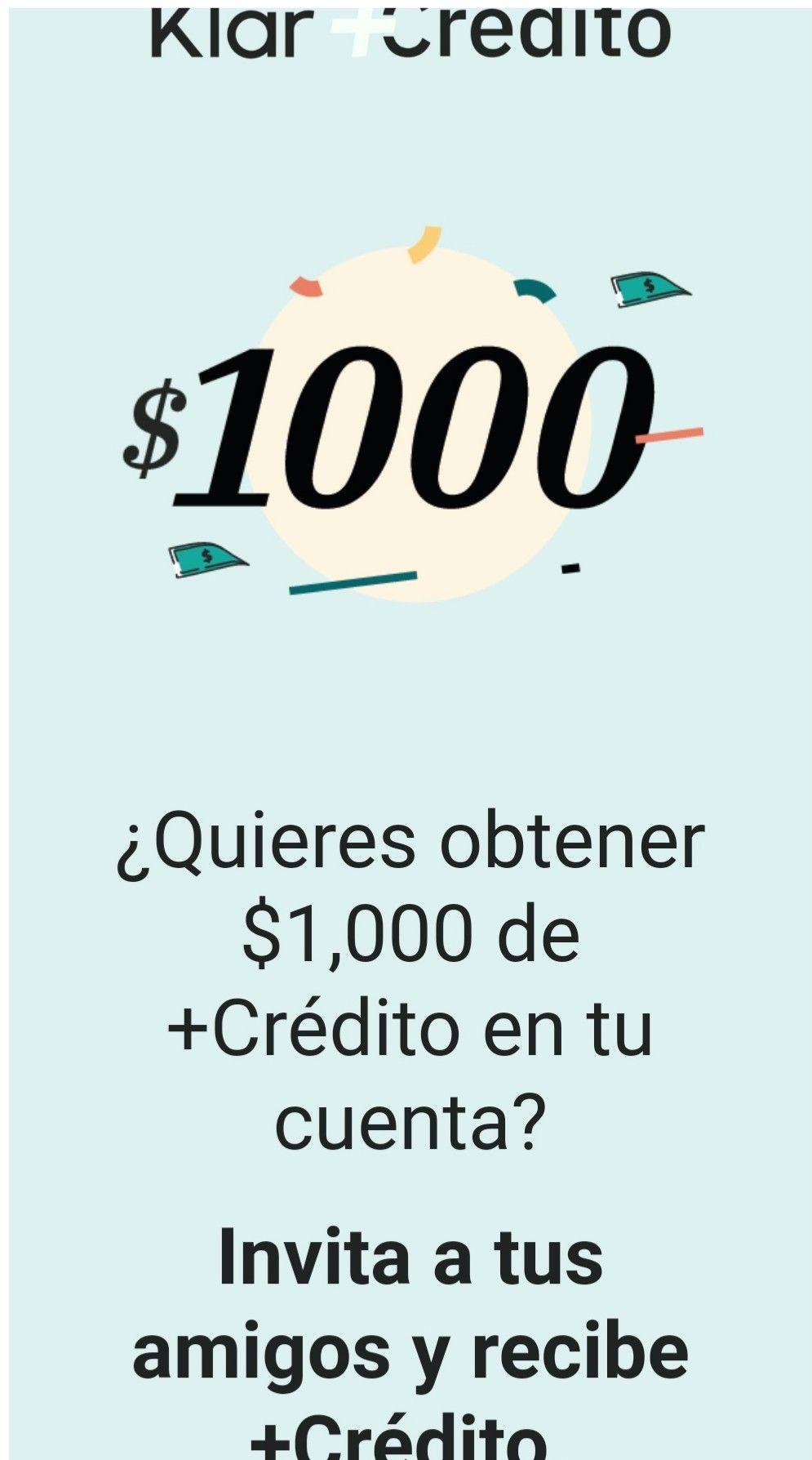 Klar te presta $1,000 recomendando a un amigo