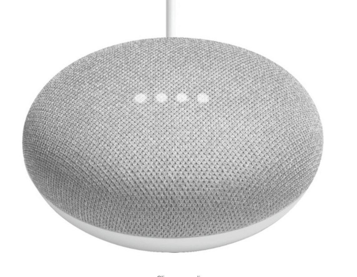 Bestbuy: Google - Google Home mini - Bocina Smart con Asistente de Google