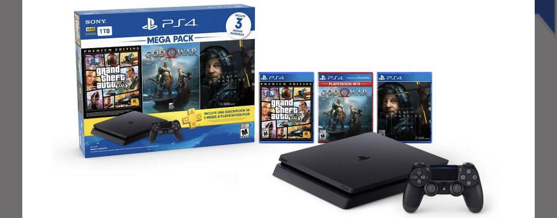 Sony - Consola PlayStation 4 de 1TB - Mega Pack 13 - Negro - Best Buy