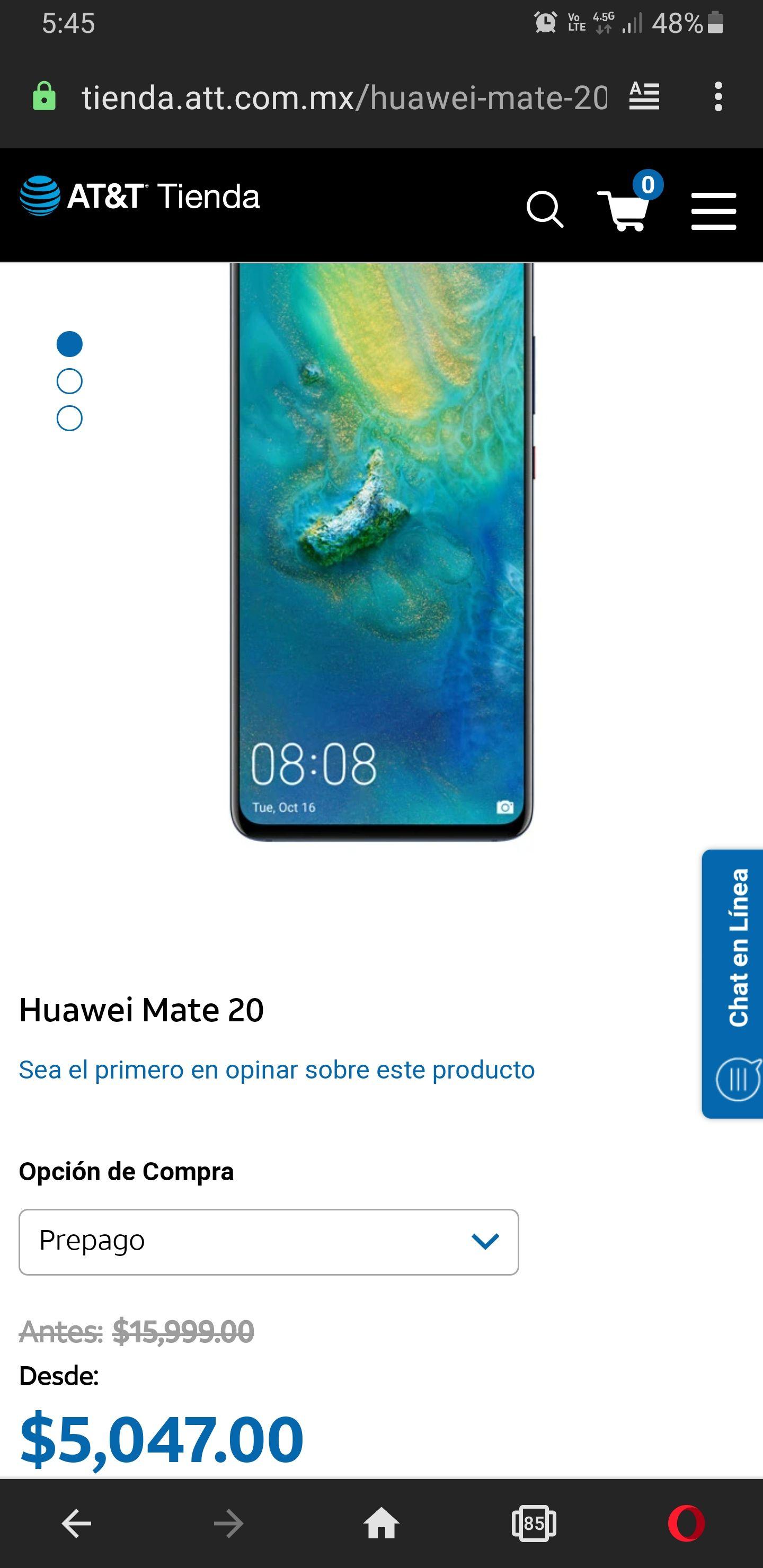 AT&T: Huawei Mate 20 128 GB