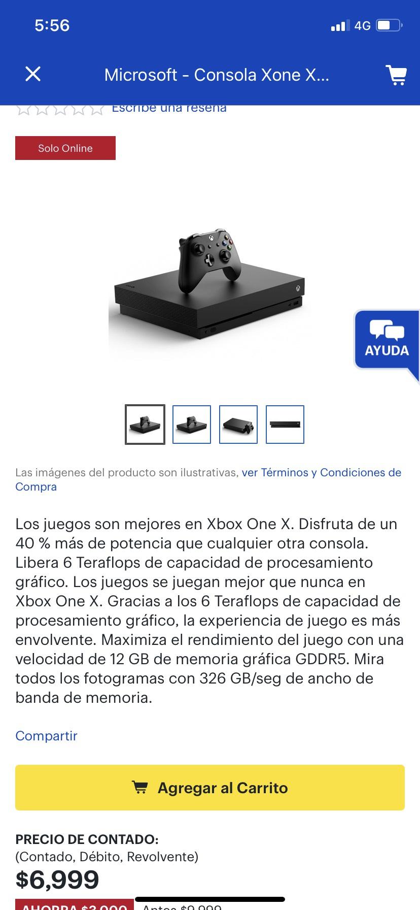 Best Buy: Consola Xbox one x