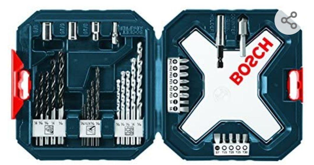 Amazon: Bosch MS4034 - Juego mixto de taladro y destornillador de 34 piezas