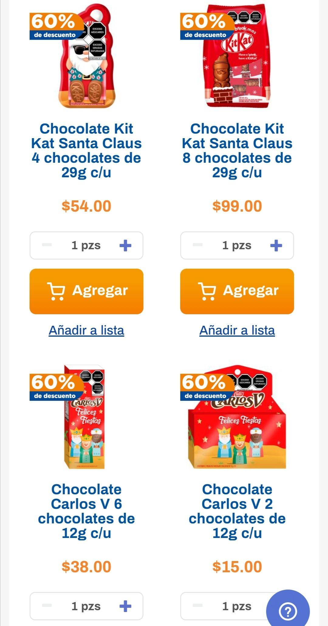 Chedraui: 60% de descuento en chocolates Nestlé de Navidad y Reyes seleccionados