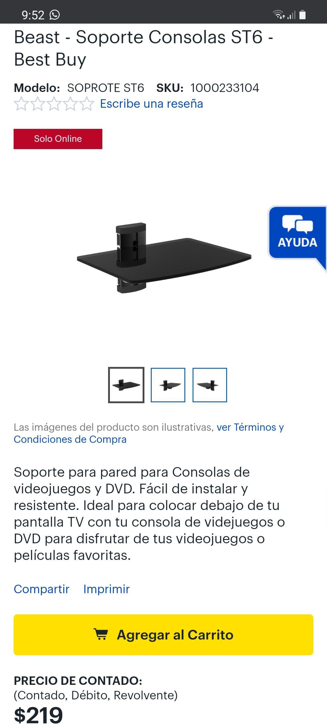 Best Buy: Soporte de vidrio templado para consolas