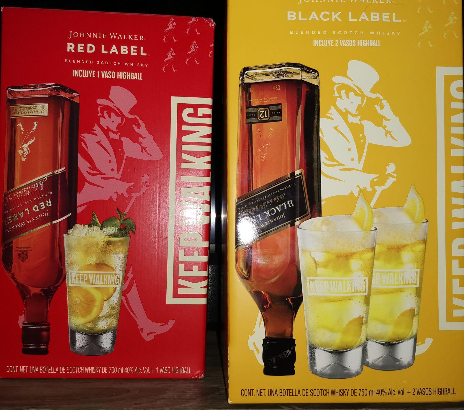 Walmart: Red label Whisky más vaso coqueto