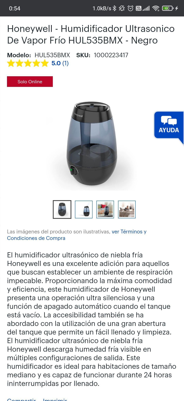 Best Buy: Humidificador Honeywell (más de $1000 en otros lados)