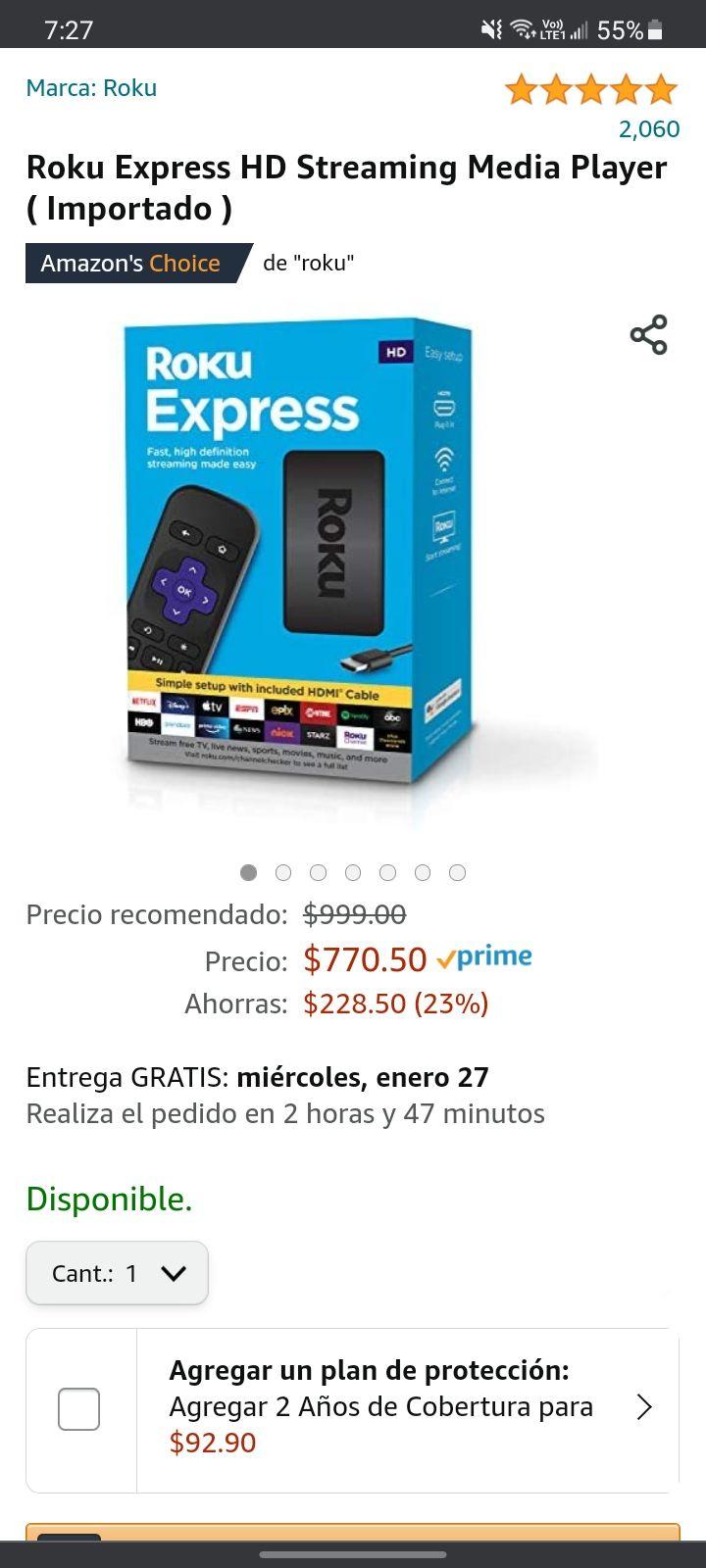 Amazon, Roku Express HD Streaming Media Player