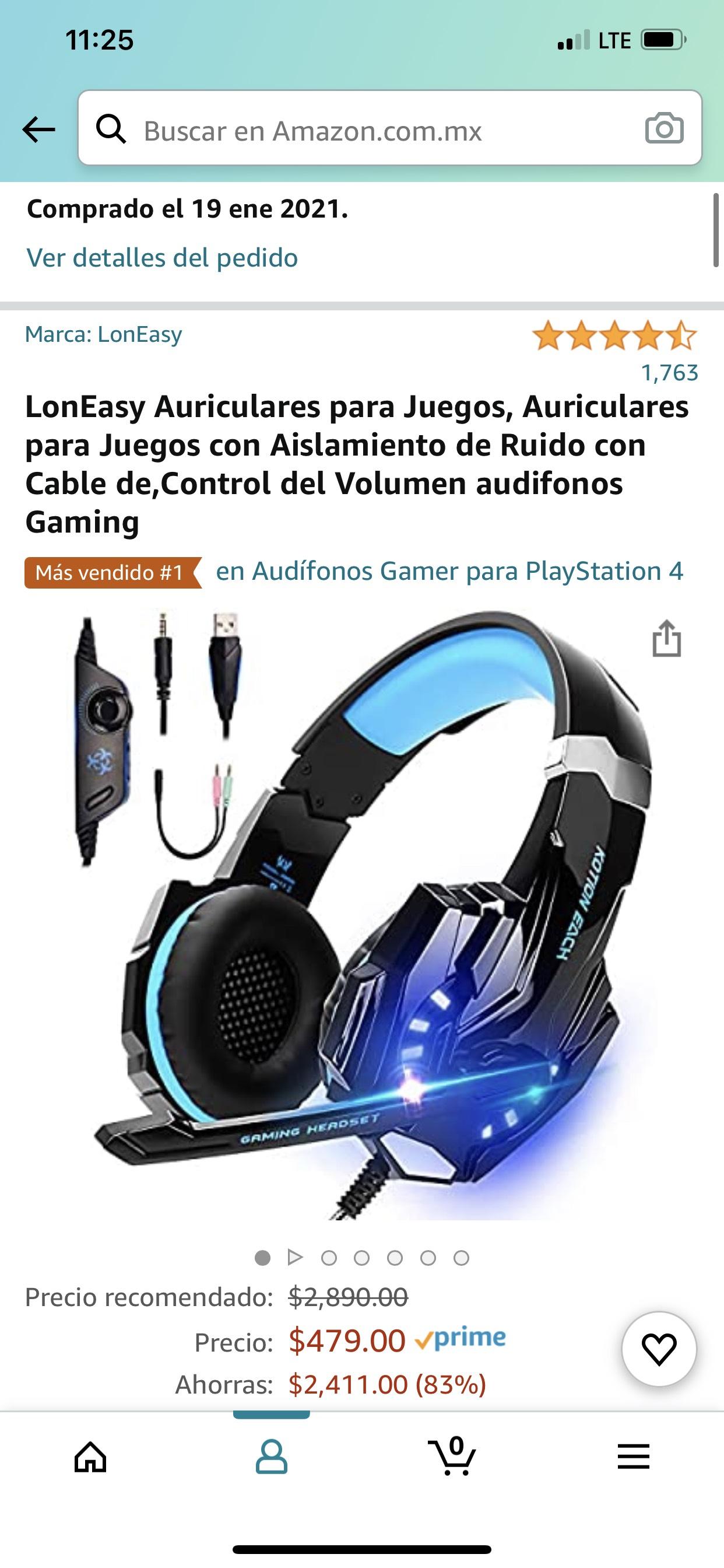 Amazon: Audífonos Gamer