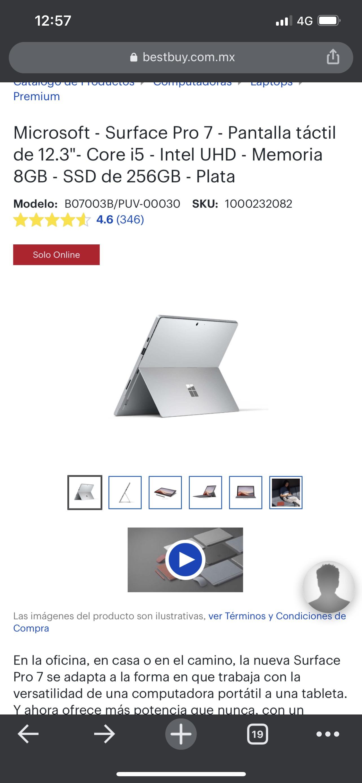 Best Buy: Surface Pro 7 i5 256Gb SSD