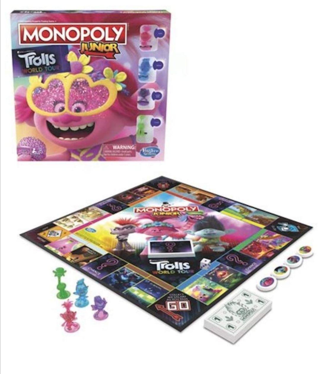 Amazon: Hasbro Gaming Monopoly Jr Trolls Juego de Mesa