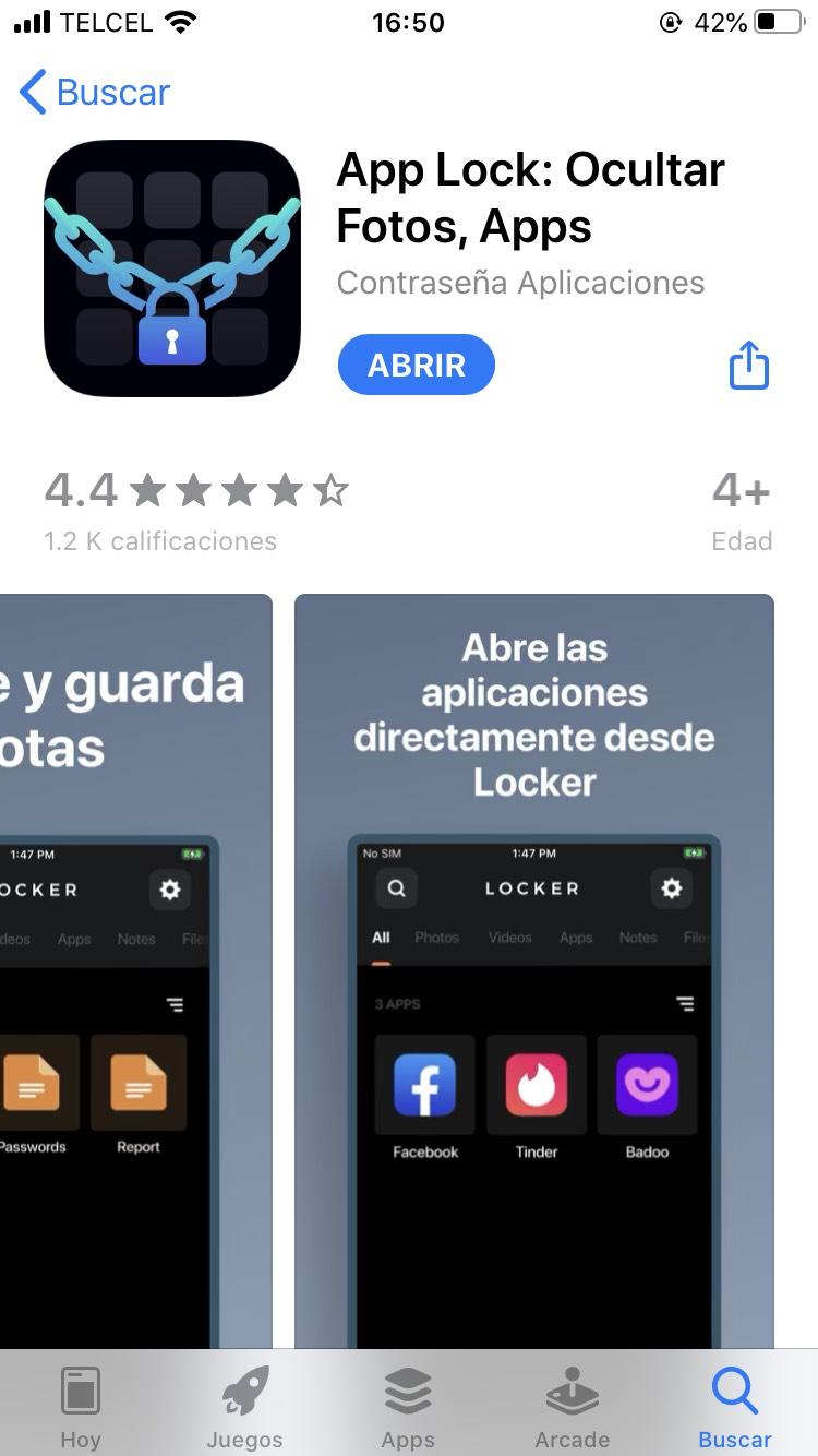 App Store: App lock bloquea aplicaciones, fotos, etc.