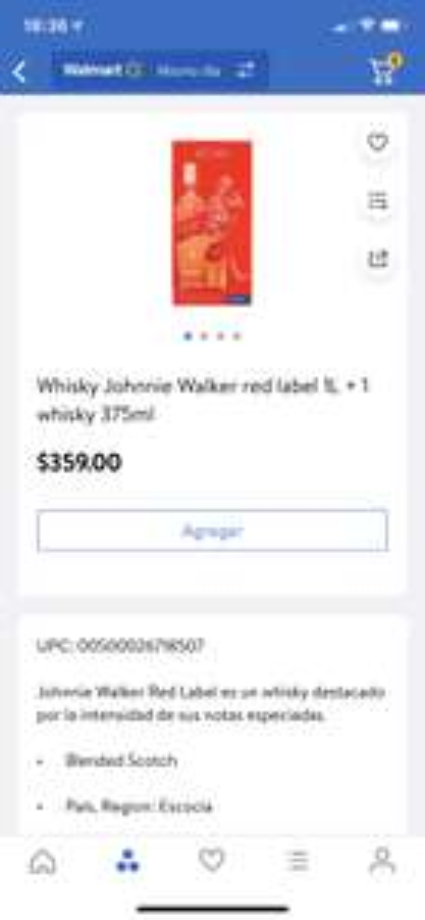 Walmart Super: Whisky Red label