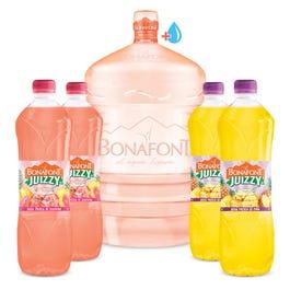 Bonafont: Garrafón Envase Bonafont mas Agua y 4 aguas JUIZZI de 1 Litro de 1L