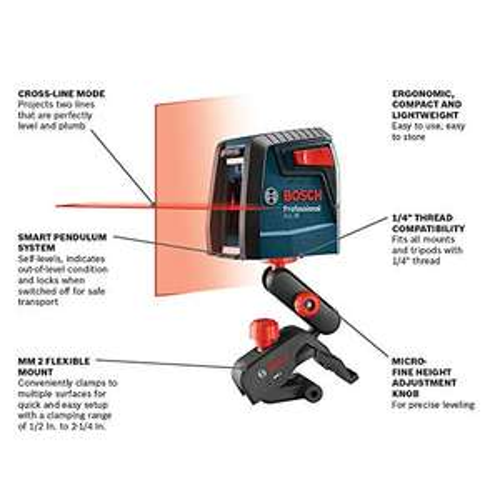 Amazon: Nivel Laser Bosch GLL30 Autonivelador lineas cruzadas Disp. MRZO-27