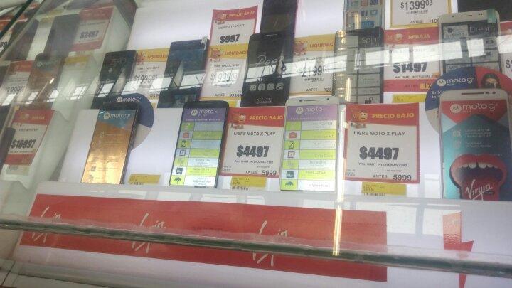 Walmart: Moto X Play Virgin/Movistar a $4,497