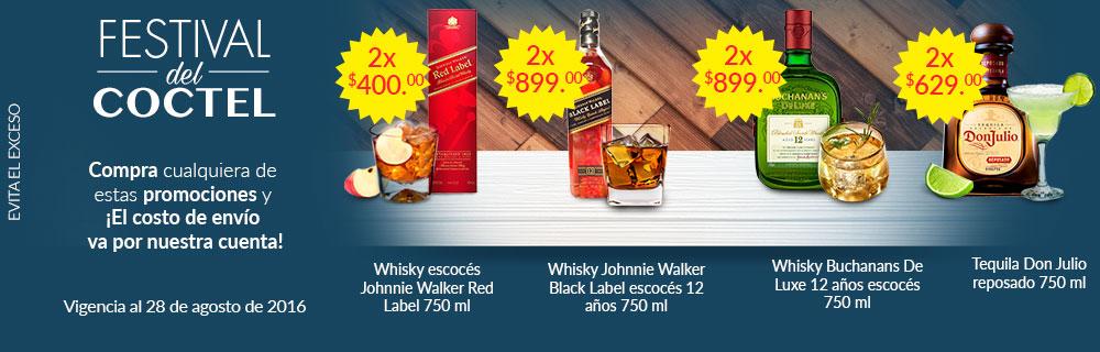 Superama en línea: Festival del Coctel, varias promociones en botellas seleccionadas más envío gratis