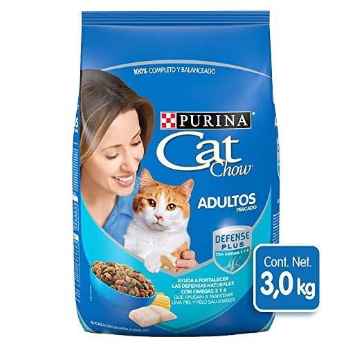 Amazon: Purina Cat Chow Comida para Gato Adulto Pescado 3Kg