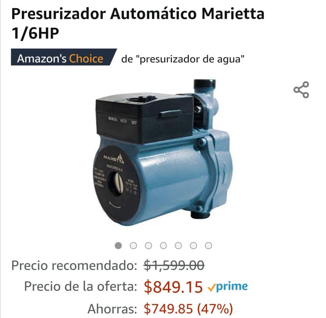 Amazon: Presurizador automático Marietta
