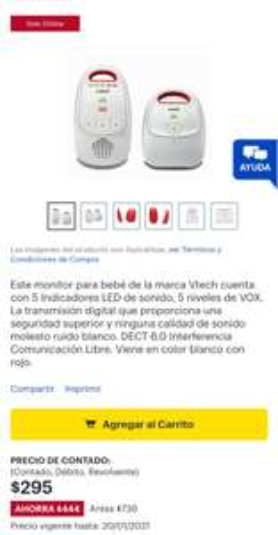 Best Buy: Monitor para bebé VTech