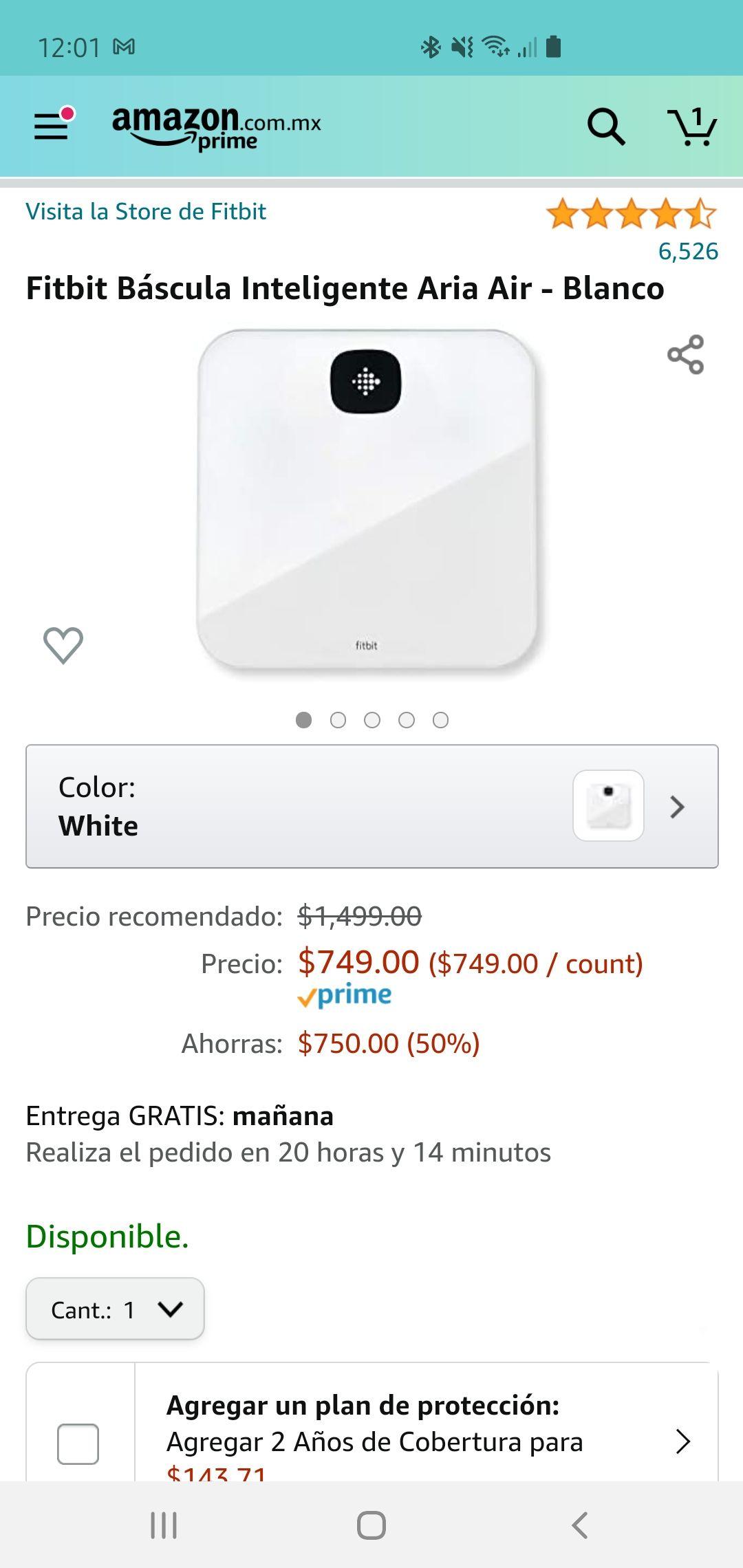 Amazon: Báscula Inteligente Fitbit