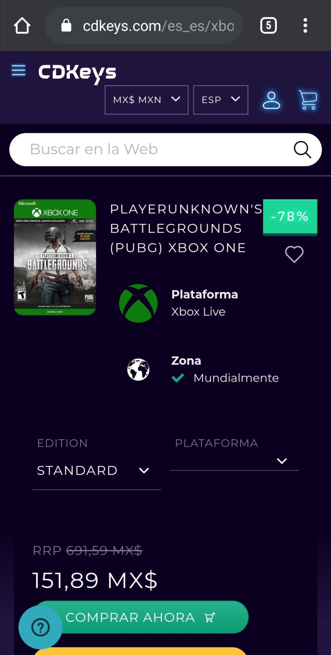 CDKeys: PUBG (Xbox one)