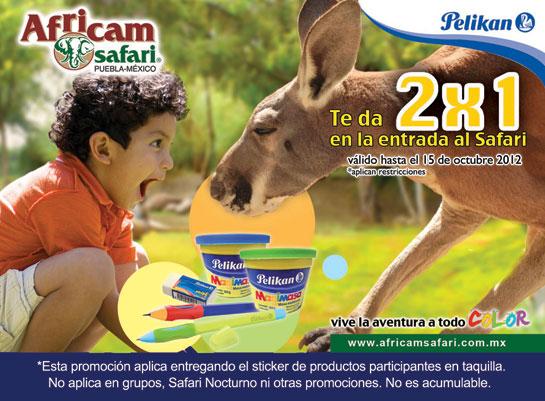 Africam Safari: 2x1 con prodcutos Pelikan o 3x2 pagando con Santander