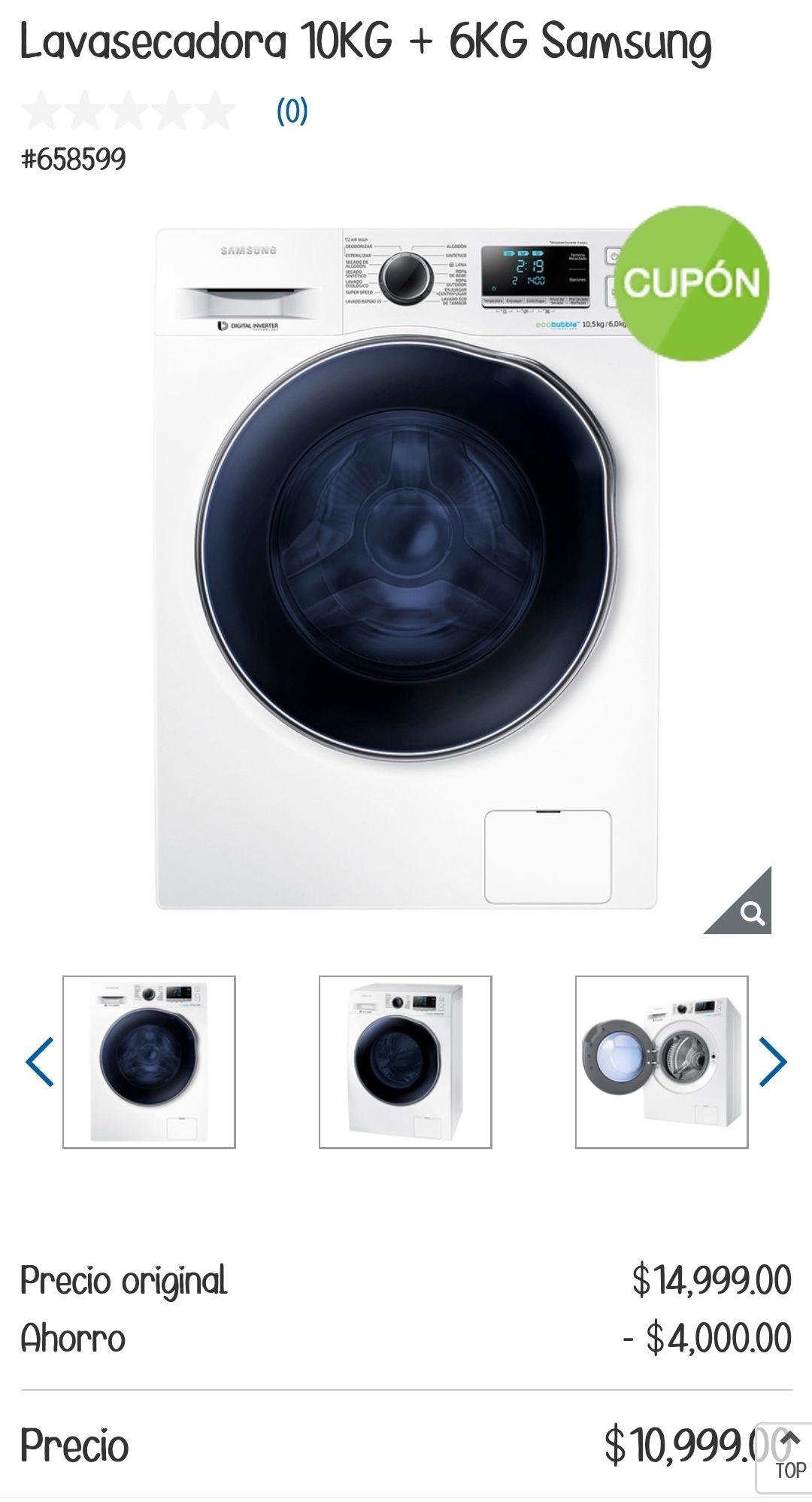 Costco: Lavasecadora Samsung