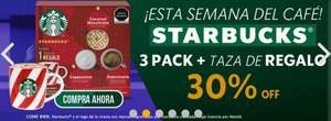 Dolce Gusto: STARBUCKS® 3 PACK + TAZA NAVIDEÑA - CAPPUCCINO, CARAMEL MACCHIATO Y AMERICANO HOUSE BLEND