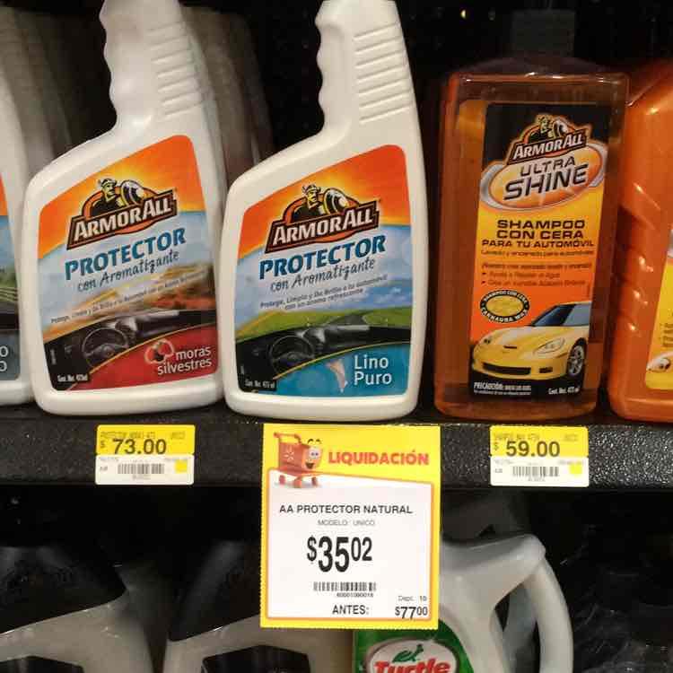 Walmart La Cima: ArmorAll protector carro a $35.02