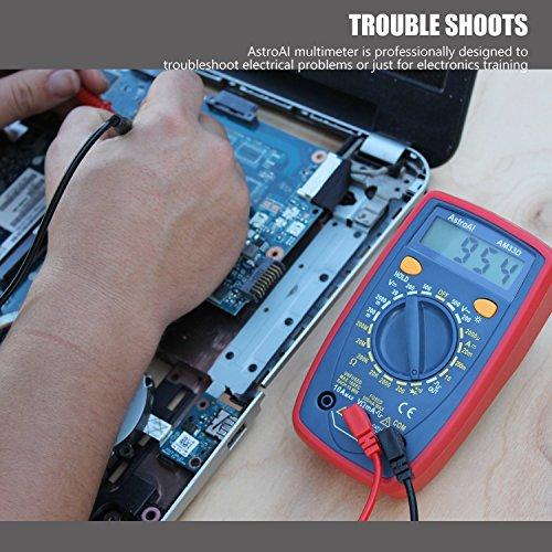 Amazon: AstroAI Multímetro Digital Profesional, Voltimetro Amperimetro, Medidor de Corriente Voltaje DC, Resistencia, Continuidad, Diodos