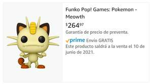 Amazon: Funko Pop! Games: Pokemon - Meowth