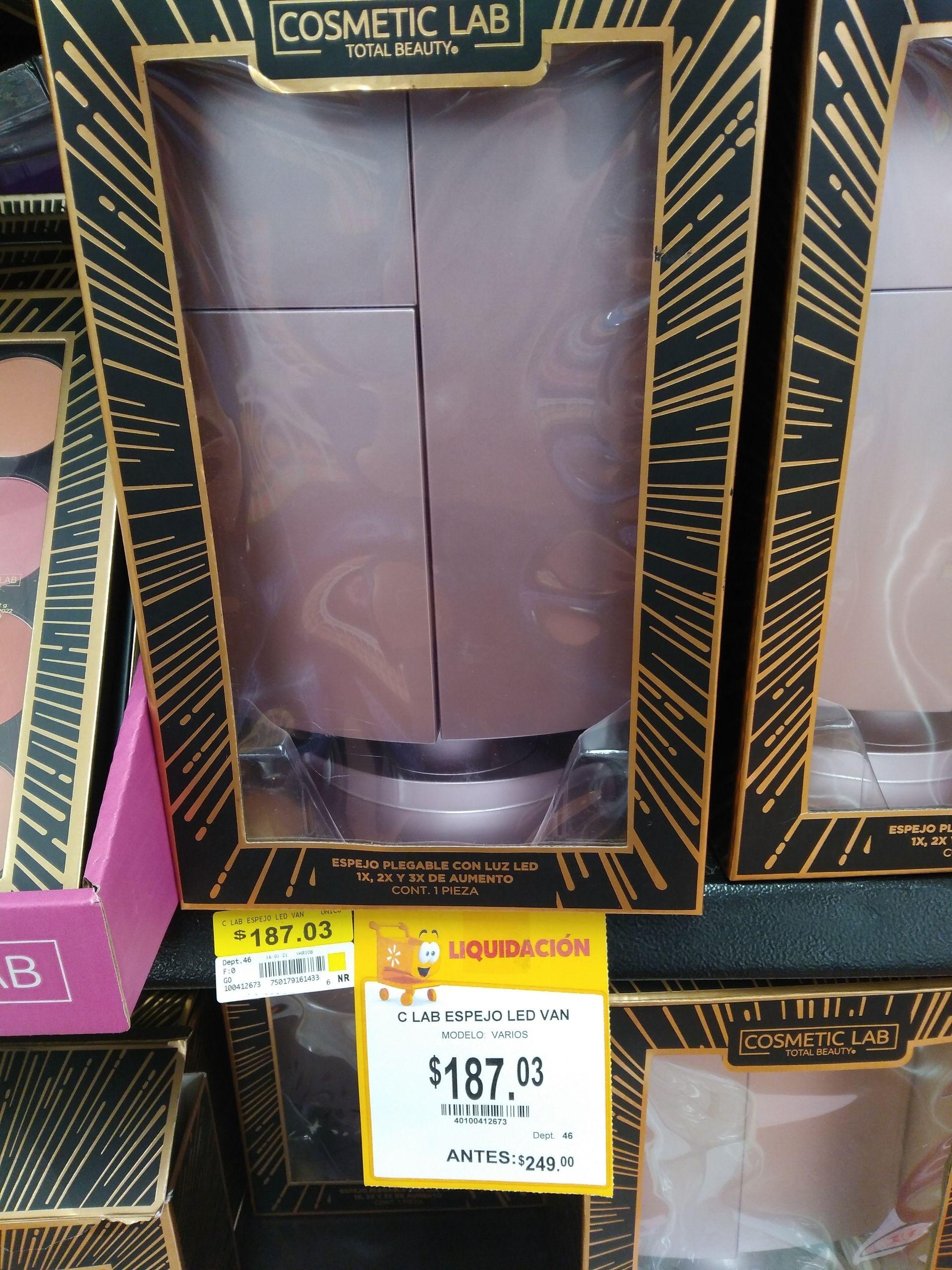 Walmart: Espejo plegable con luz led